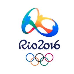 official logo of the 2016 summer olympic games in rio de janeiro, brazil, from august 5 to august 21, 2016
