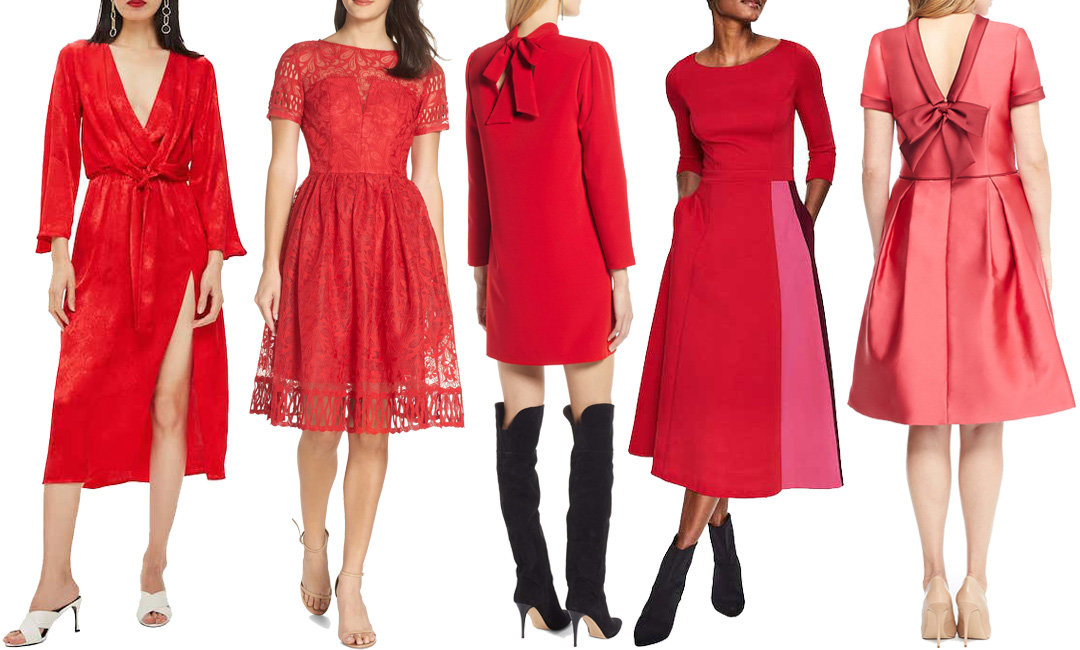 11 Red Holiday Dresses from Nordstrom