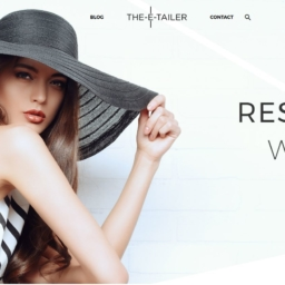 screenshot of the-e-tailer's new website look featuring their 'resort wear' lookbook