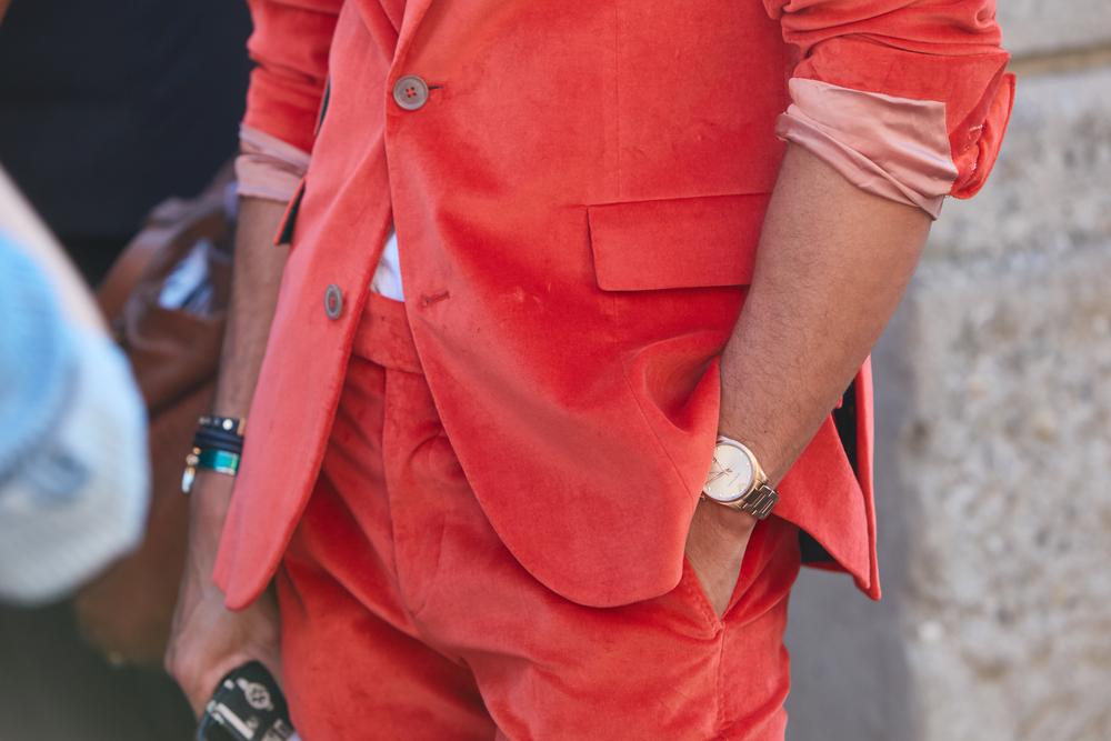 Prada Bright Coral Suit