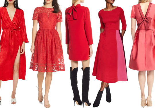 11 Red Holiday Dresses from Nordstrom   The-E-Tailer.com/Blog