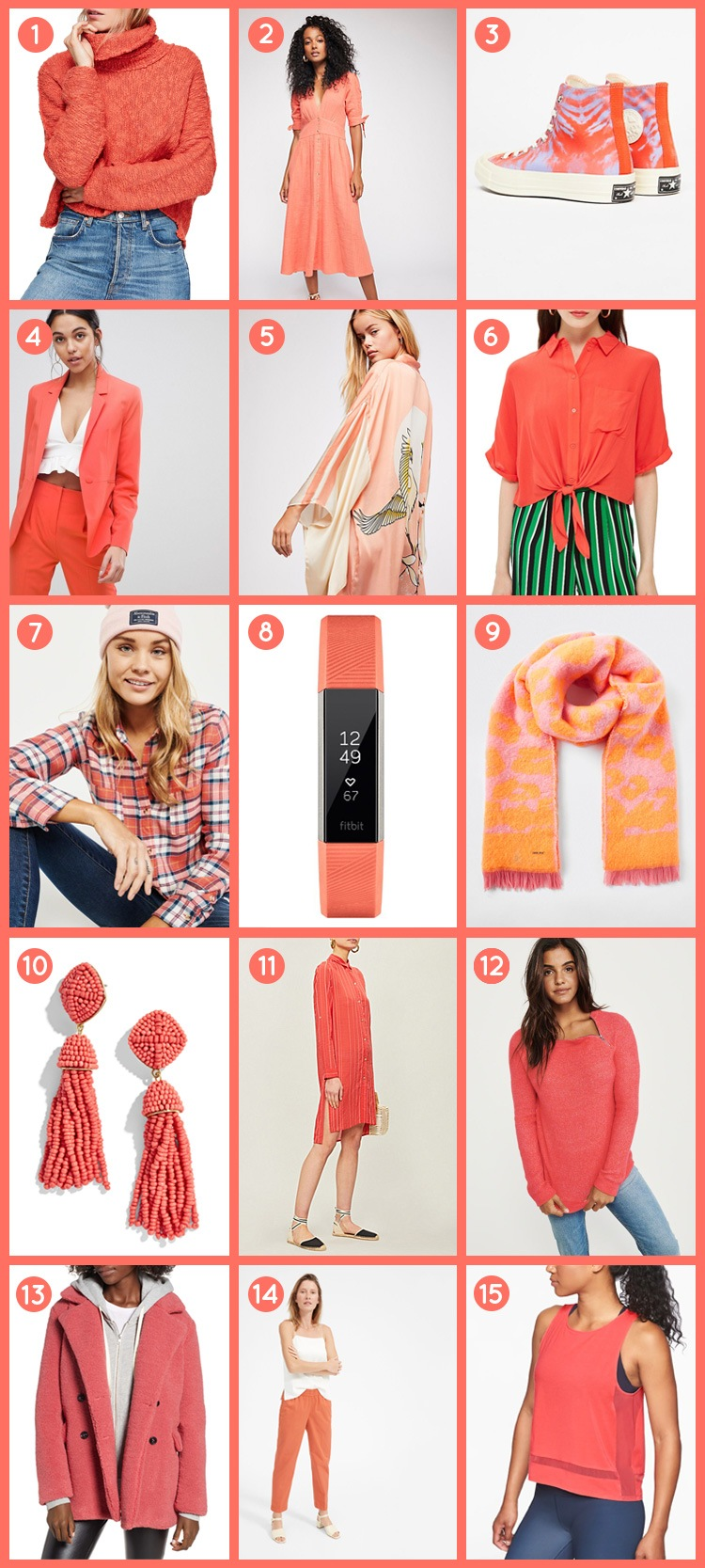 Brighten Up Your Wardrobe With Pantone's Color of the Year 2019, Living Coral | The-E-Tailer.com/Blog